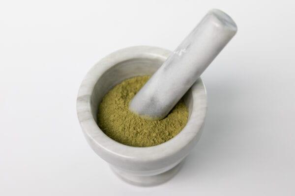 Kratom Powder in a Bowl