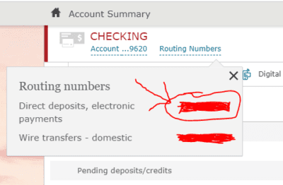 Selecting the right Routing number
